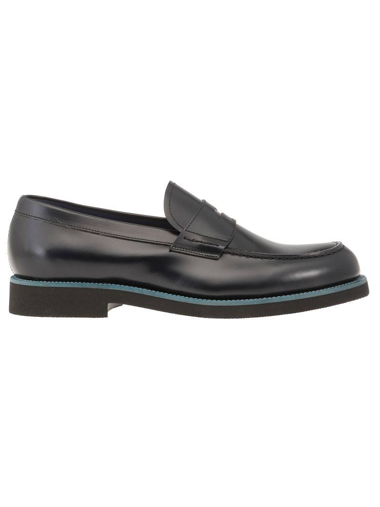Green George Leather Loafer - BLUE