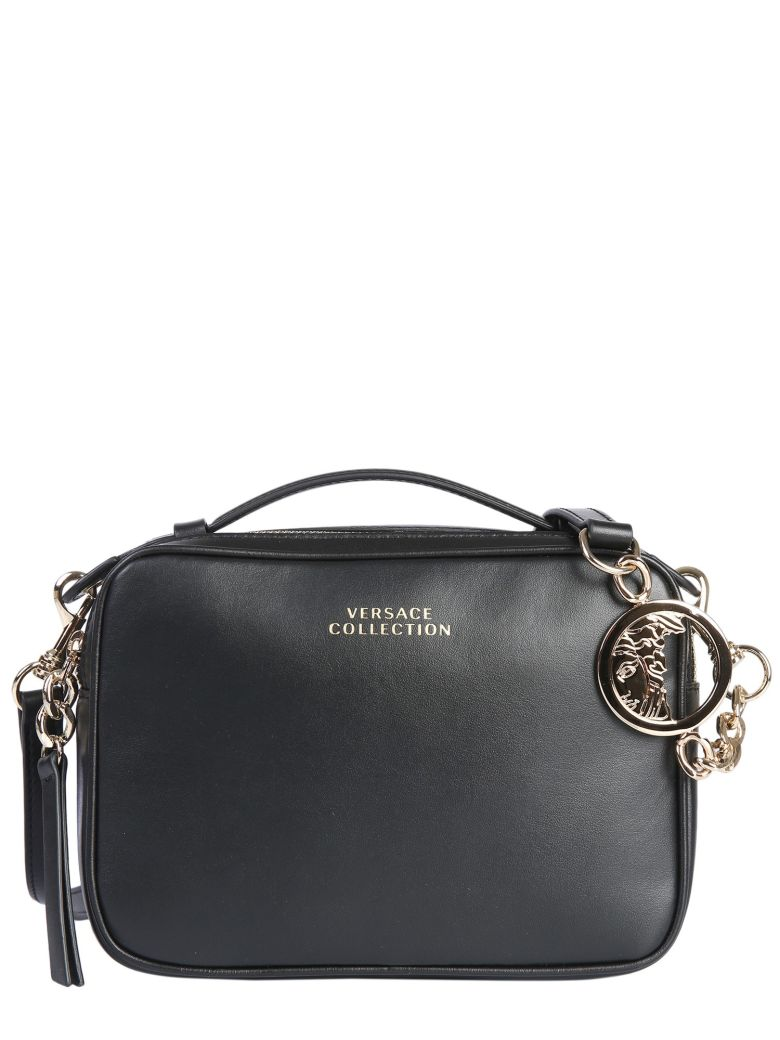 Versace Collection Bauletto Leather Bag - NERO