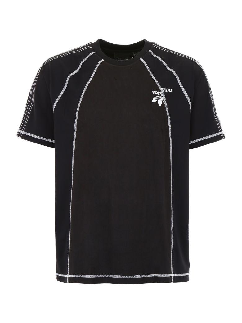 Adidas Originals by Alexander Wang Unisex T-shirt - BLACK WHITE|Nero