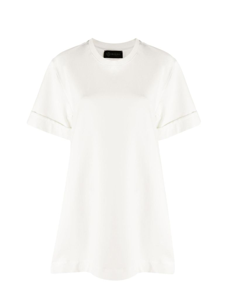 Mr & Mrs Italy Mini Dress With Plisse' - OFF WHITE
