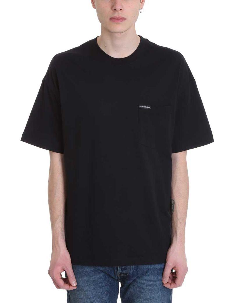 Calvin Klein Jeans Black Cotton T-shirt - black