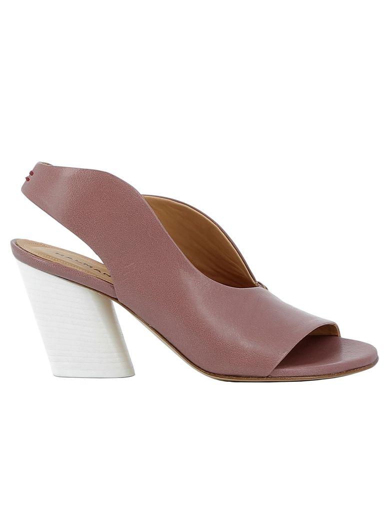 Halmanera Pink Leather Sandals - PINK