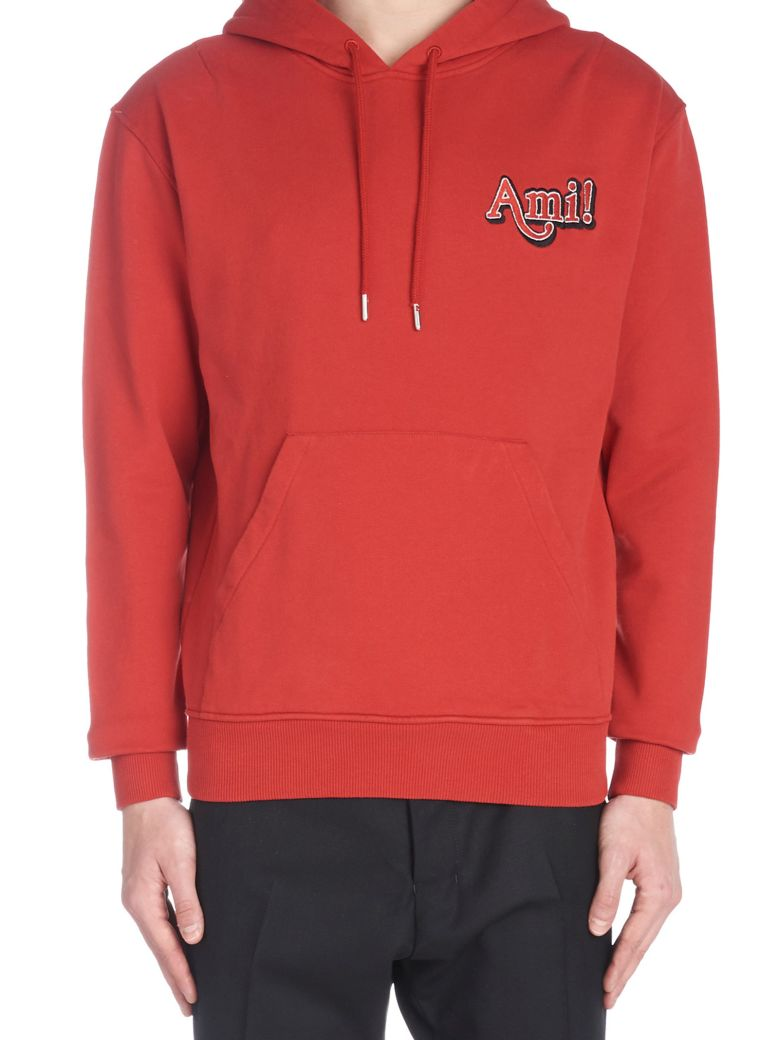 Ami Alexandre Mattiussi 'new Logo' Hoodie - Red