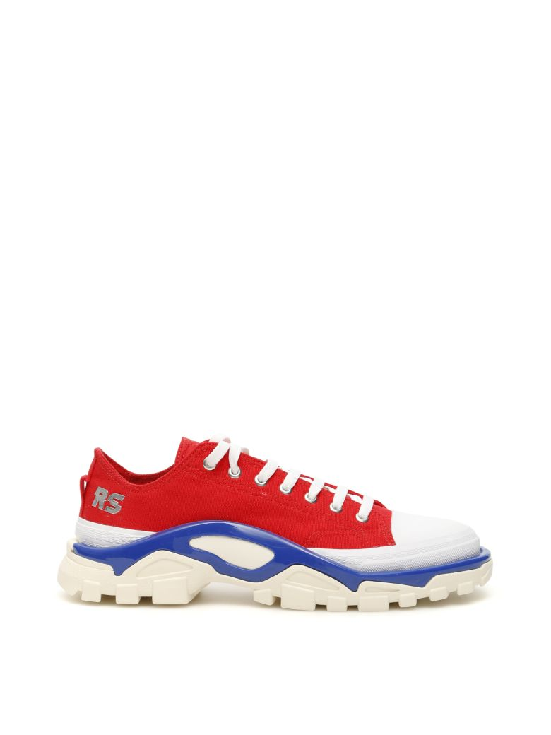 Adidas By Raf Simons Unisex Rs Detroit Runner Sneakers - RED SILVMT BOBLUE (Red)