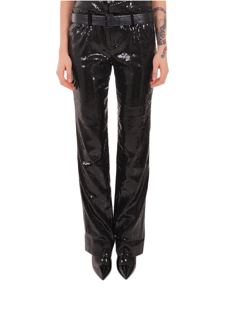 RTA Sequined Dillon Trousers - Black