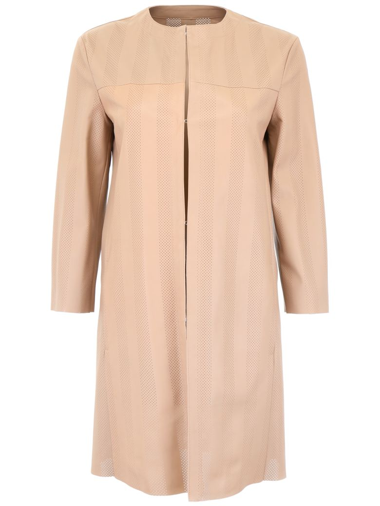 DROMe Perforated Leather Coat - RIMMEL (Pink)