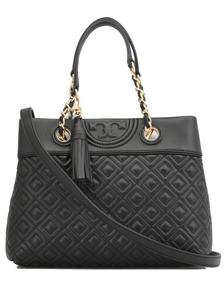 Tory Burch Fleming Small Tote - BLACK