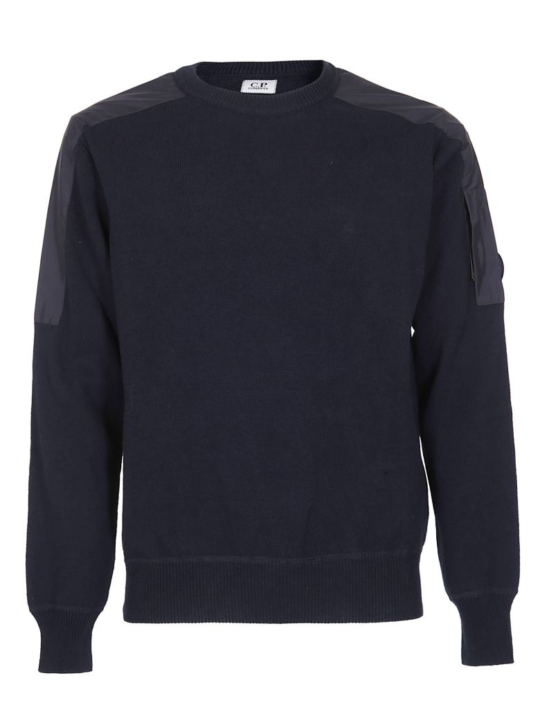 C.P. Company Shoulder Patch Sweater - Blue