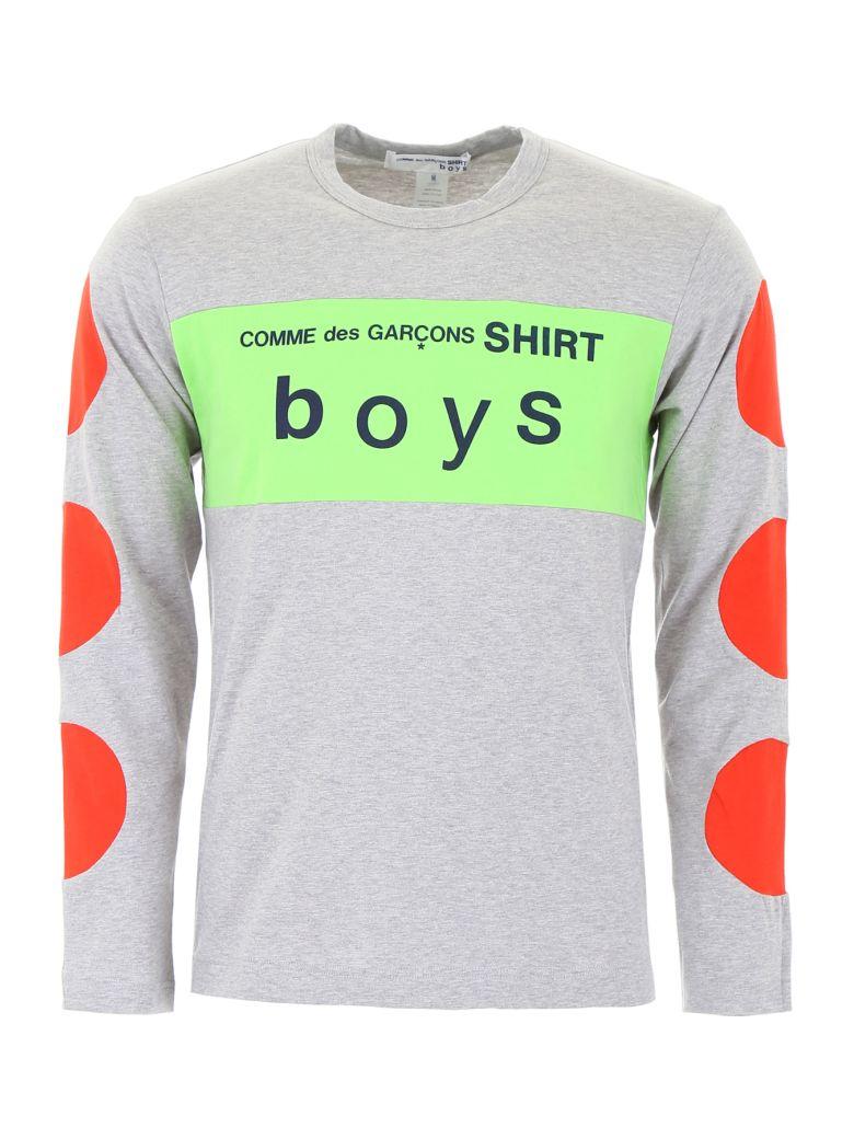 Comme des Garçons Shirt Boy Multicolor Logo T-shirt - GREY RED GREE (Grey)