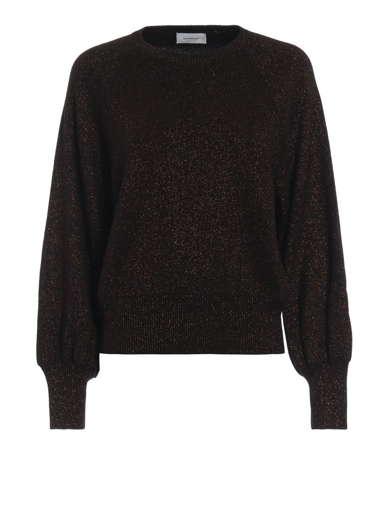 Dondup Lurex Wool Blend Sweater - Brown