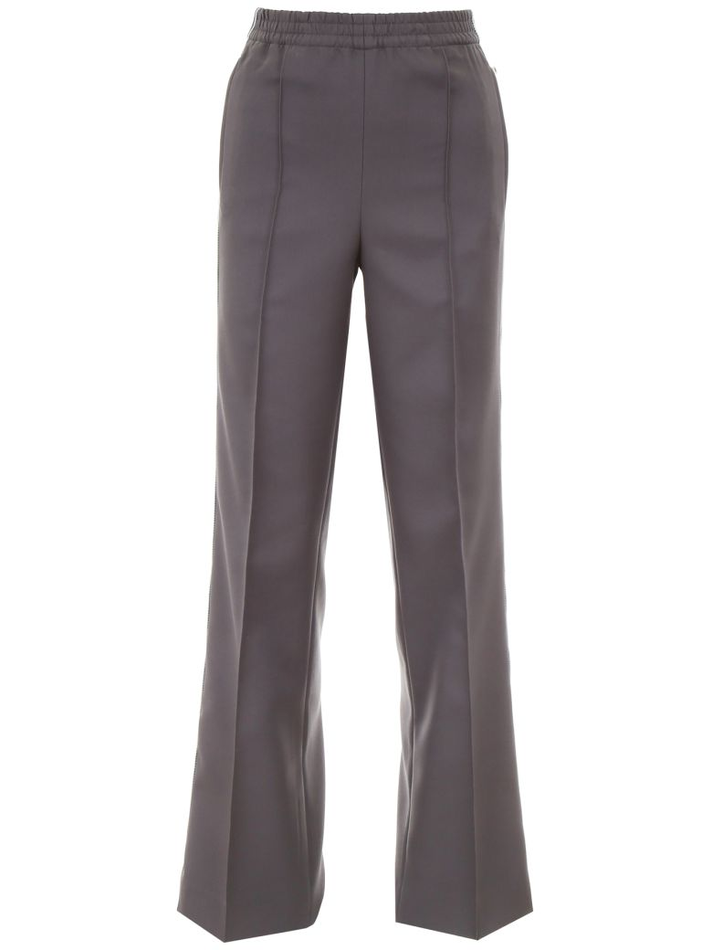 Prada Linea Rossa Trousers With Side Band - EMATITE|Grigio