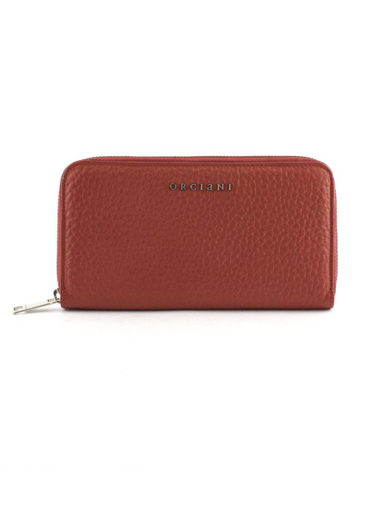 Orciani Red Leather Wallet - Rosso