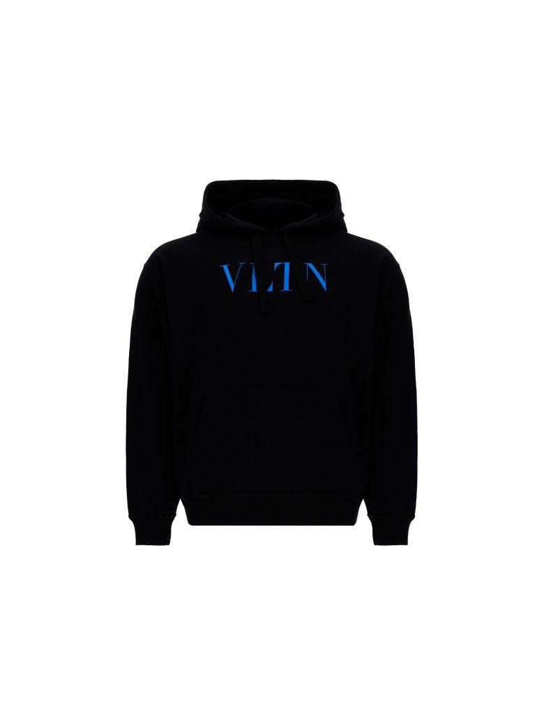 Valentino Hoodie - Nero/vltn light blue fluo