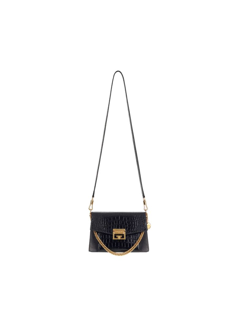Givenchy Small Gv3 Calf Leather Bag/cocca - Black