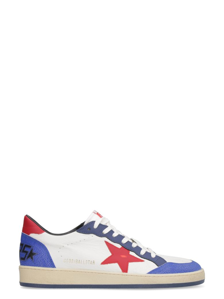 Golden Goose Ball Star Leather Low-top Sneakers - White