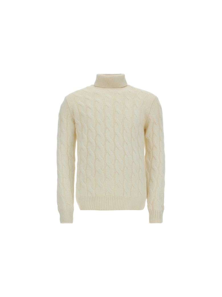 Lardini Turtleneck Sweater - Beige