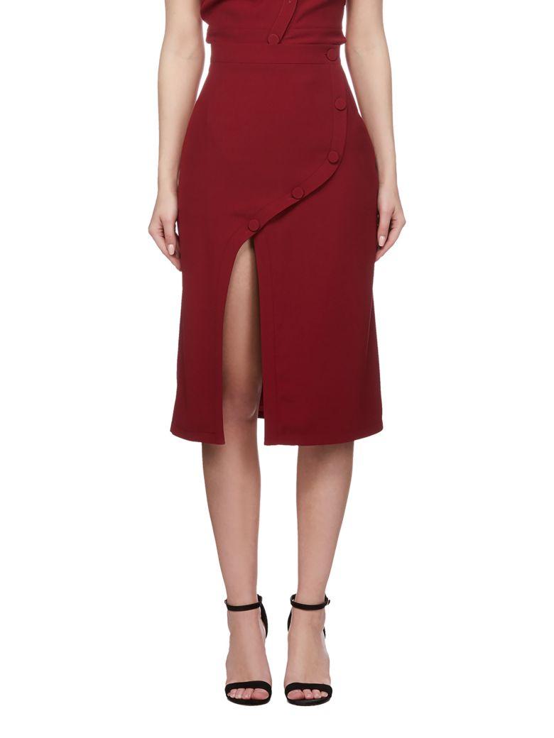 Rokh Front Slit Skirt - Bordeaux