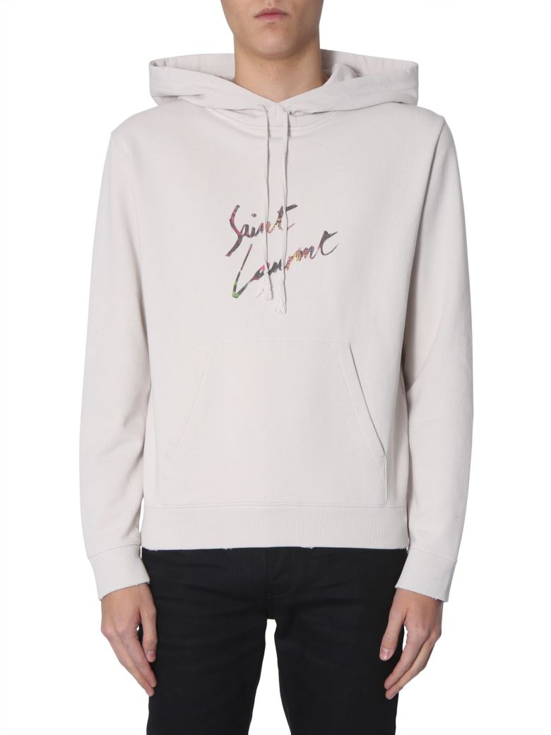 Saint Laurent Cotton Hooded Sweatshirt - CIPRIA