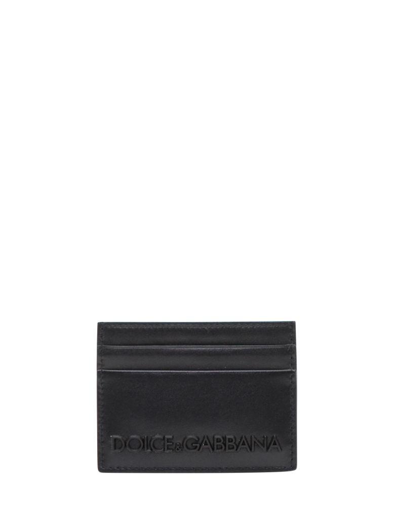 Dolce & Gabbana Cardholder With Rubber Logo - Nero