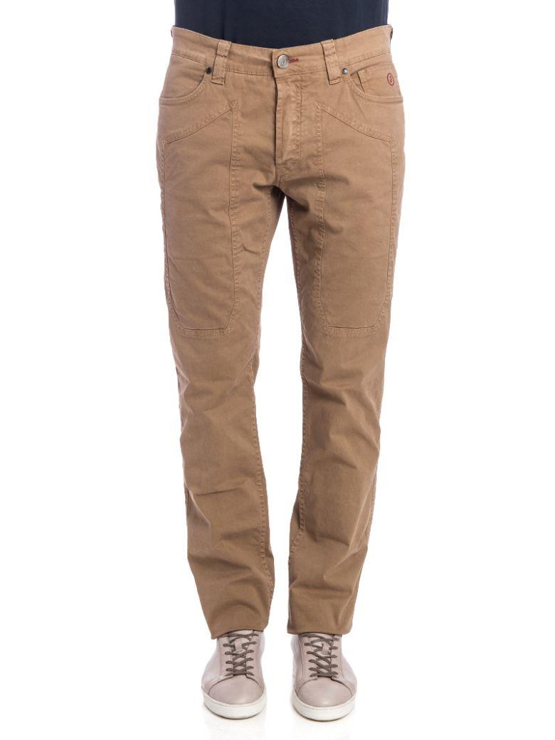 Jeckerson Jeckerson Cotton Blend Trousers - CAMEL