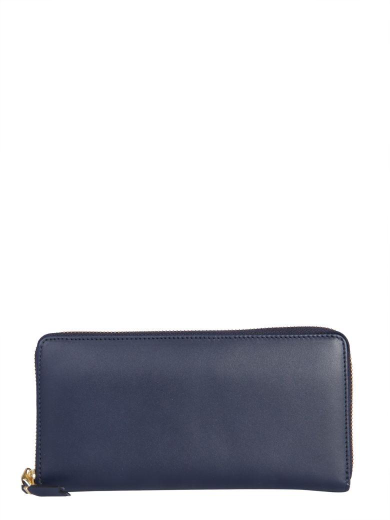 Comme des Garçons Wallet Zip Around Leather Wallet - BLU