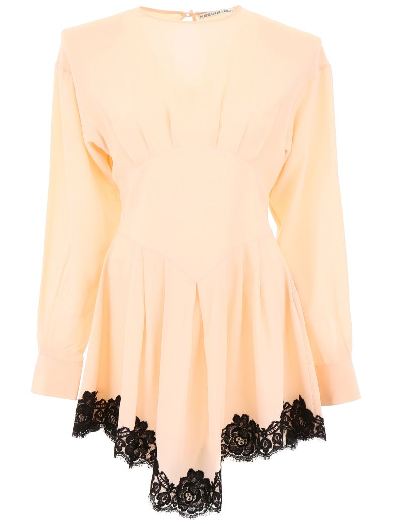 Alessandra Rich MINI DRESS WITH LACE