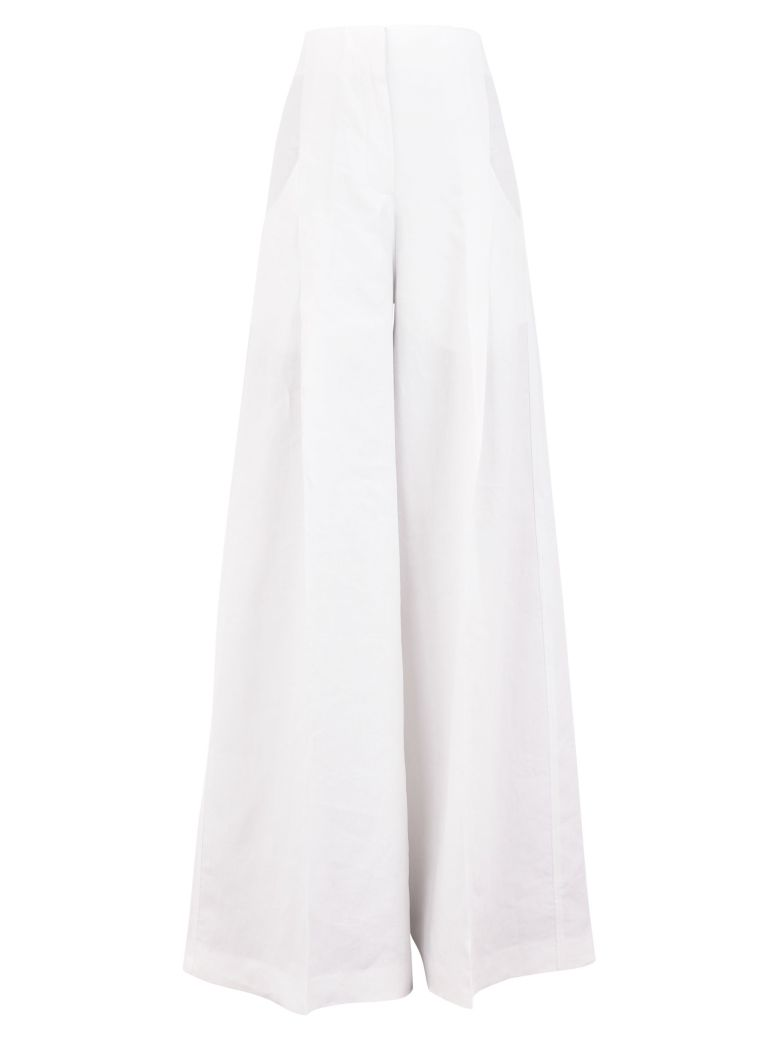 Jacquemus Wide Leg Trousers - White