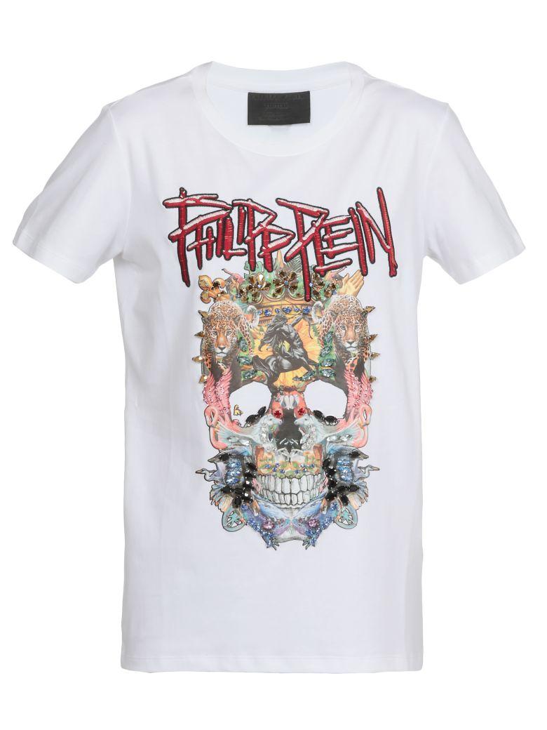 Philipp Plein T Shirt With Decorations - WHITE