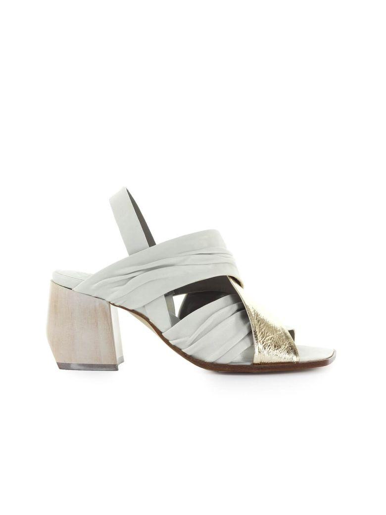 IXOS White Gold Heeled Sandal - Gesso / Oro (Gold)