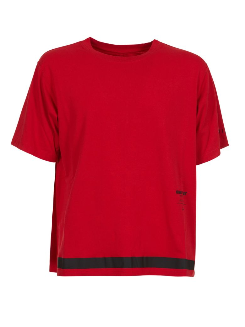 Ben Taverniti Unravel Project Short Sleeve T-Shirt - Rosso/nero
