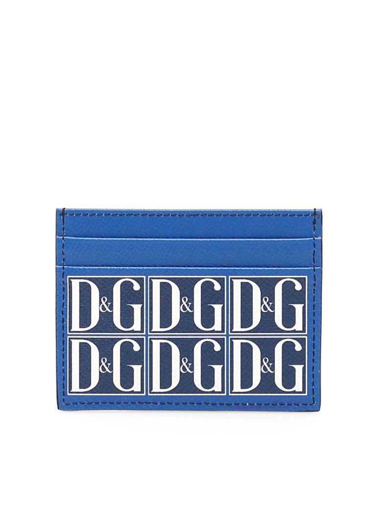 Dolce & Gabbana D&g Leather Cardholder - DG GRAFICO F BLU (Blue)