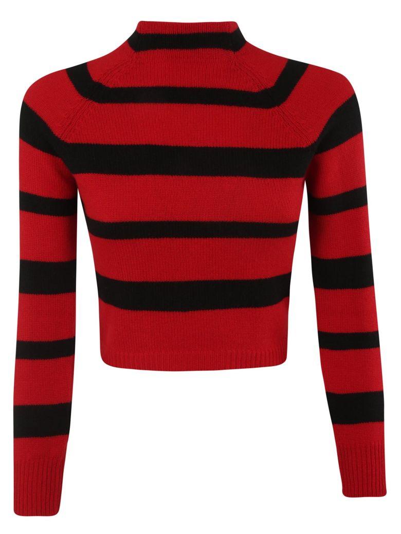 Miu Miu Striped Sweater - Red