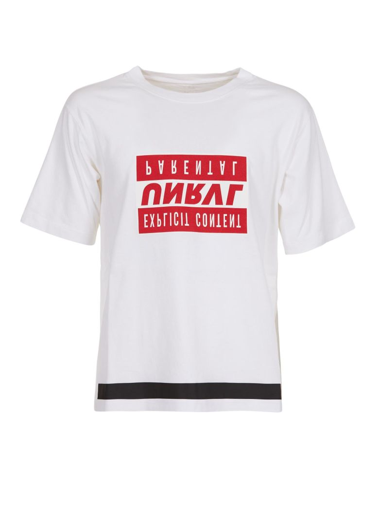 Ben Taverniti Unravel Project Short Sleeve T-Shirt - Bianco/rosso