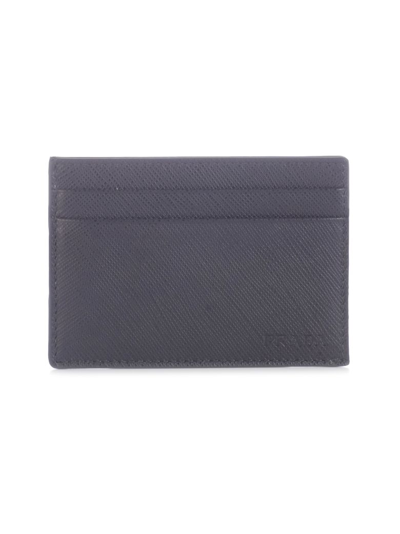 Prada Saffiano Card Holder - Black