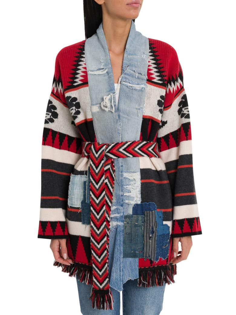 Alanui New Icon Patch Kimono Cashmere Cardigan By Greg Lauren - Multi