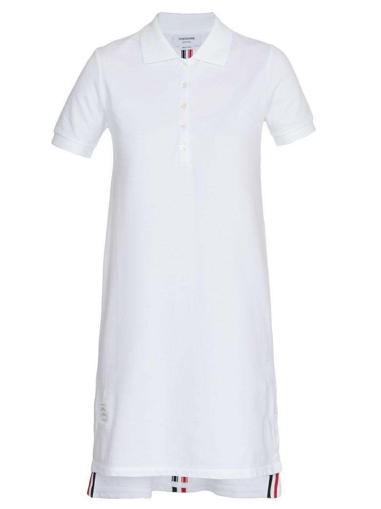 Thom Browne A Line Polo Dress - WHITE