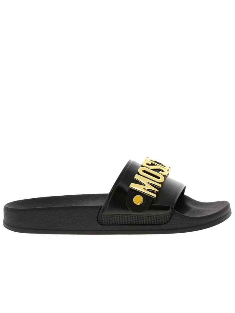 Moschino Couture Flat Sandals Shoes Women Moschino Couture - black