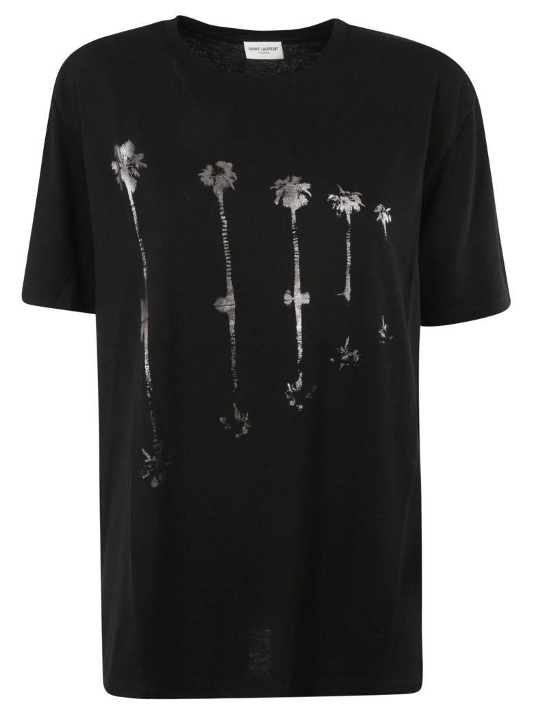 Saint Laurent Printed T-shirt - Black/silver