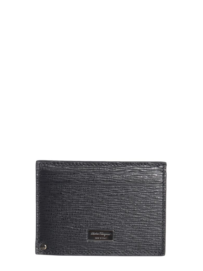Salvatore Ferragamo Leather Card Holder - NERO