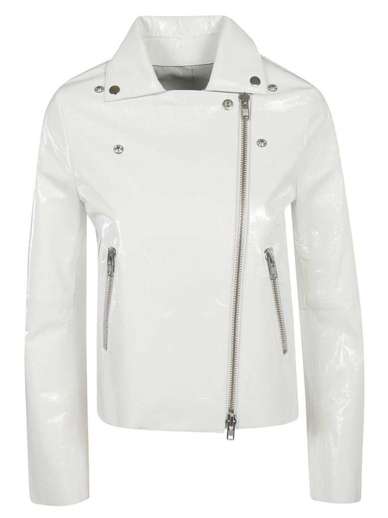 S.W.O.R.D 6.6.44 Classic Zipped Biker Jacket - White