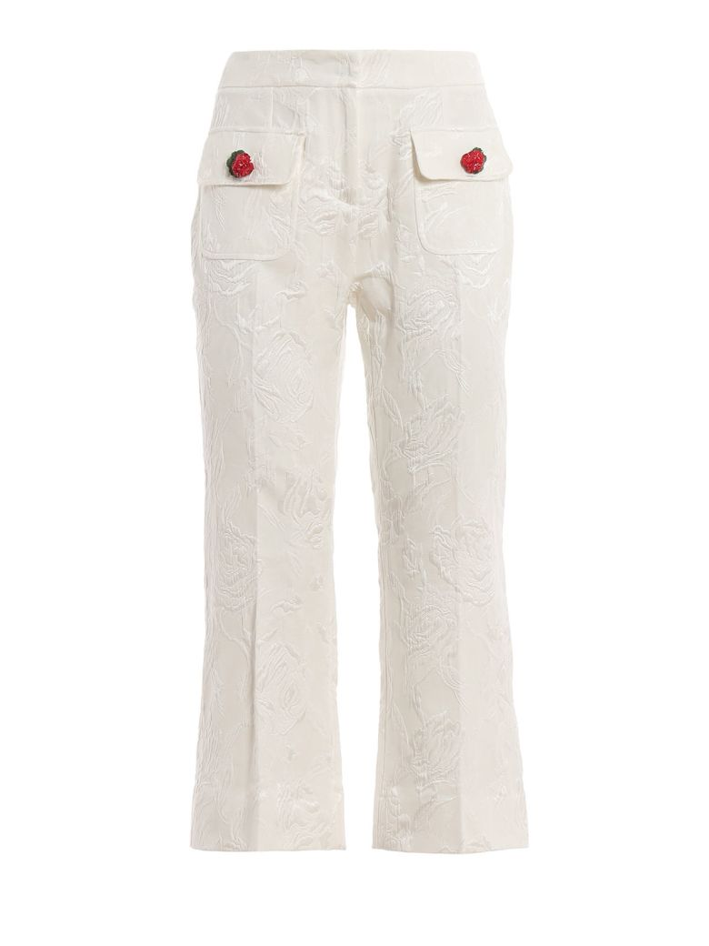 Dolce & Gabbana Embroidered Trousers - Bianco
