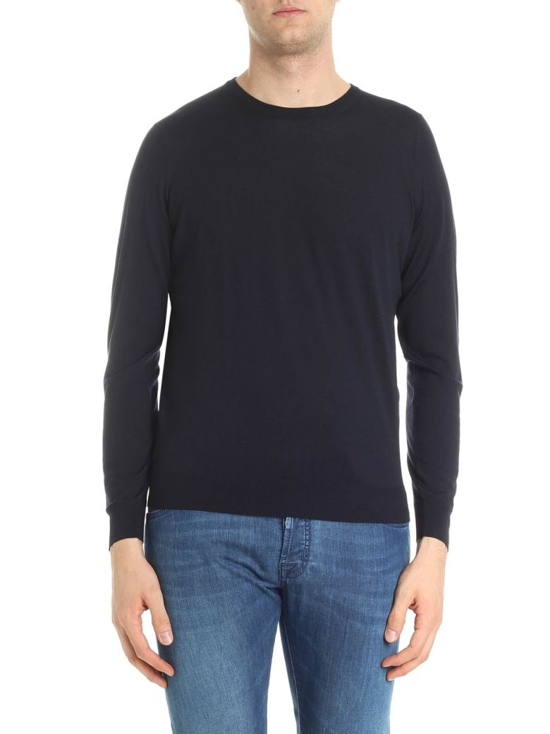 Drumohr Round Neck Wool - Blue