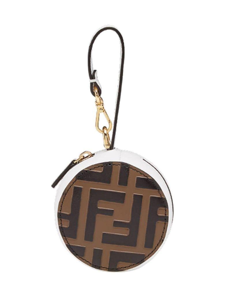 Fendi Ff Logo Bag Charm - Maya+bianco