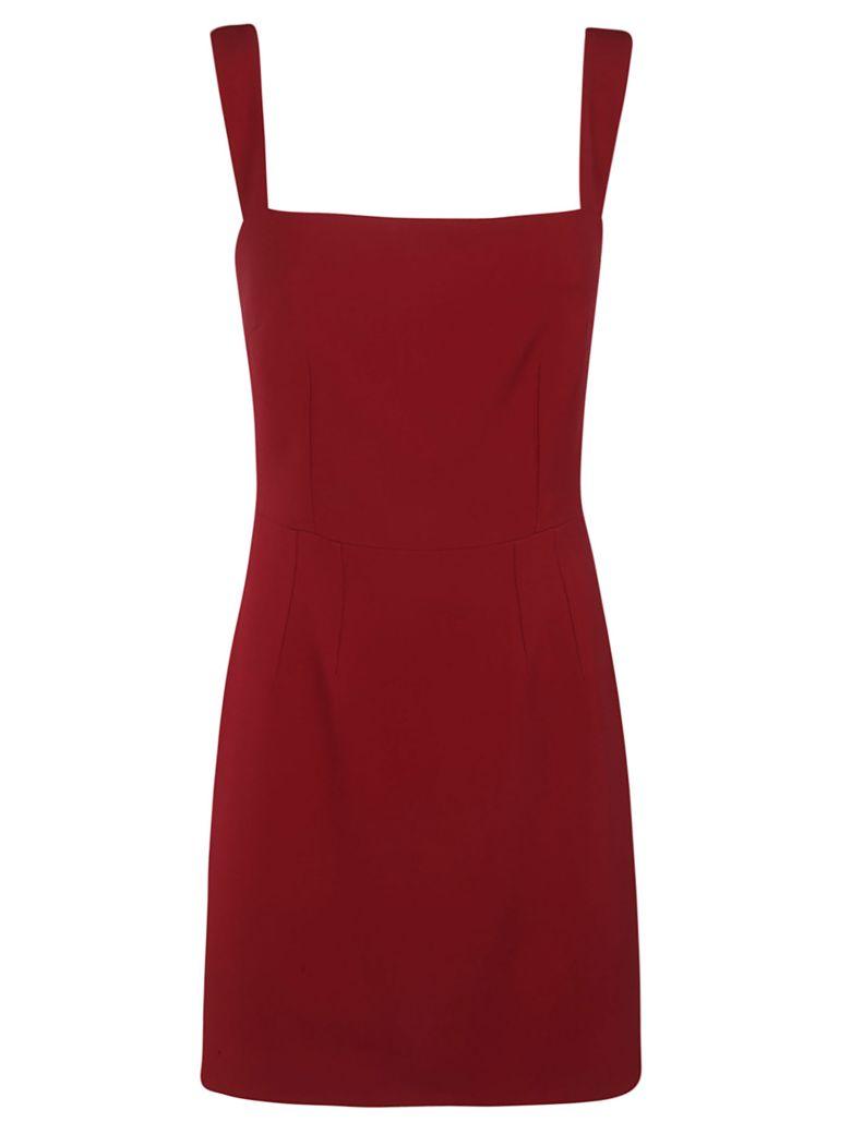 Dolce & Gabbana Square Neck Dress - bordeaux