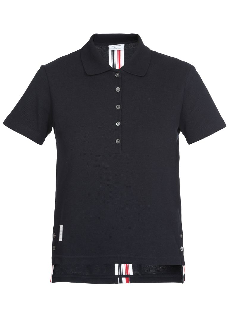 Thom Browne Cotton Polo Shirt - NAVY
