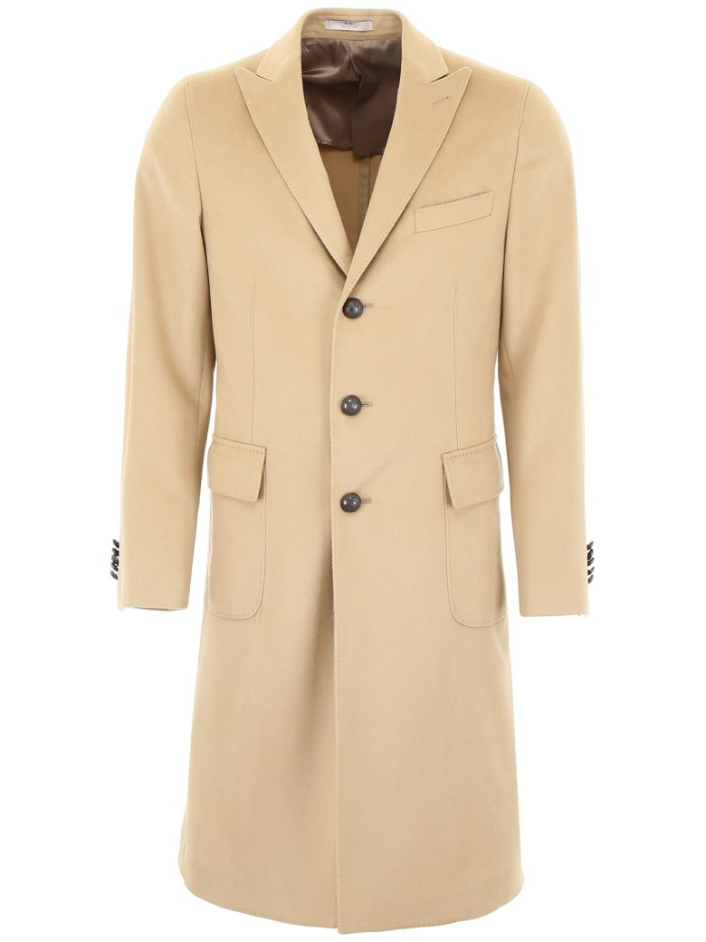 CC Collection Corneliani Wool Coat - BEIGE|Beige
