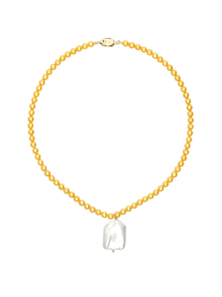 Timeless Pearly Pearl Necklace With Pendant - VARIANTE ABBINATA (Yellow)