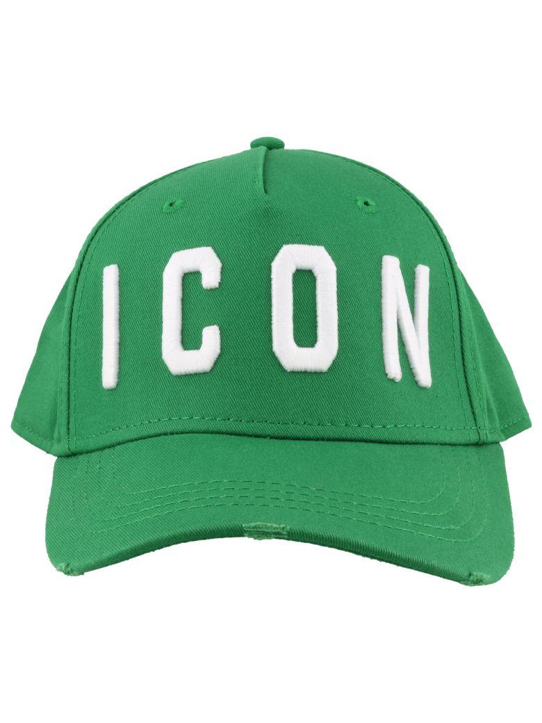 Dsquared2 Icon Baseball Cap - Smeraldo+bianco