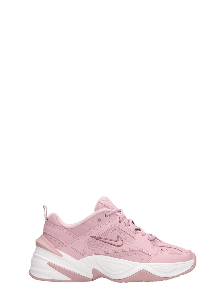 Nike M2k Techno Sneakers Pink Leather - rose-pink
