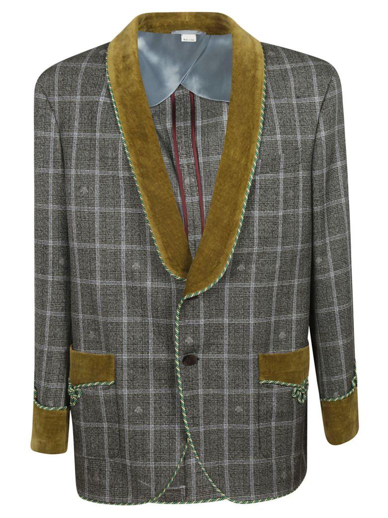 Gucci Checked Blazer - Gray